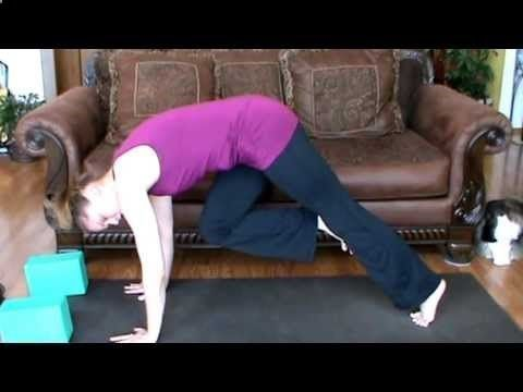 yoga tutorial  down dog to lunge transition as a special
