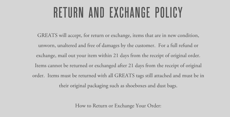 Sample Return Policy For Ecommerce Stores  Ecommerce Blogging