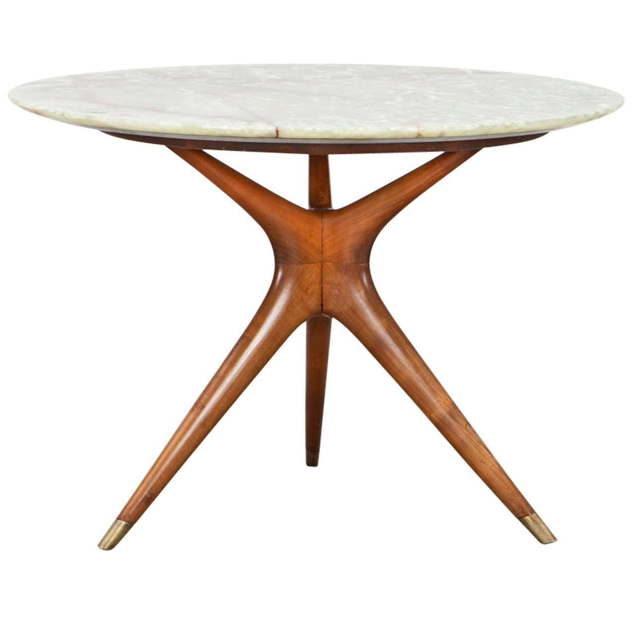 Ico Parisi Round Marble-Top Table | From a unique collection of ...