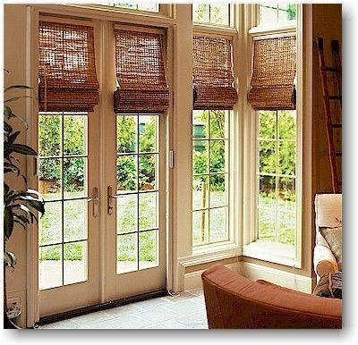 Woven Wood Roman Window Shades 27 1 4 Quot X 73 5 8 Quot Lined