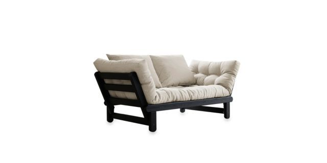Fresh Futon Beat Black Frame With Mattress From Bed Bath Beyond