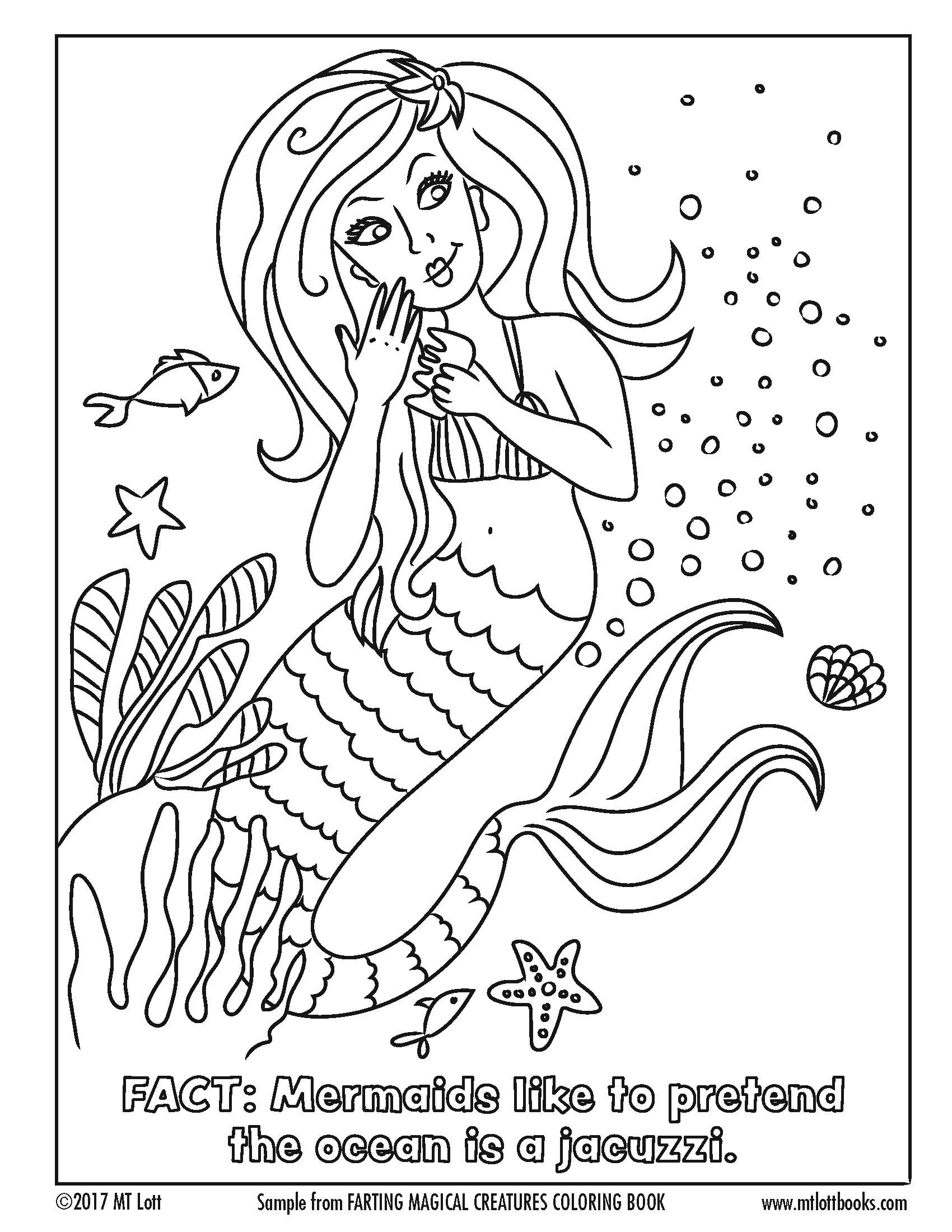 Free coloring page from M.T. Lott's, Farting Magical