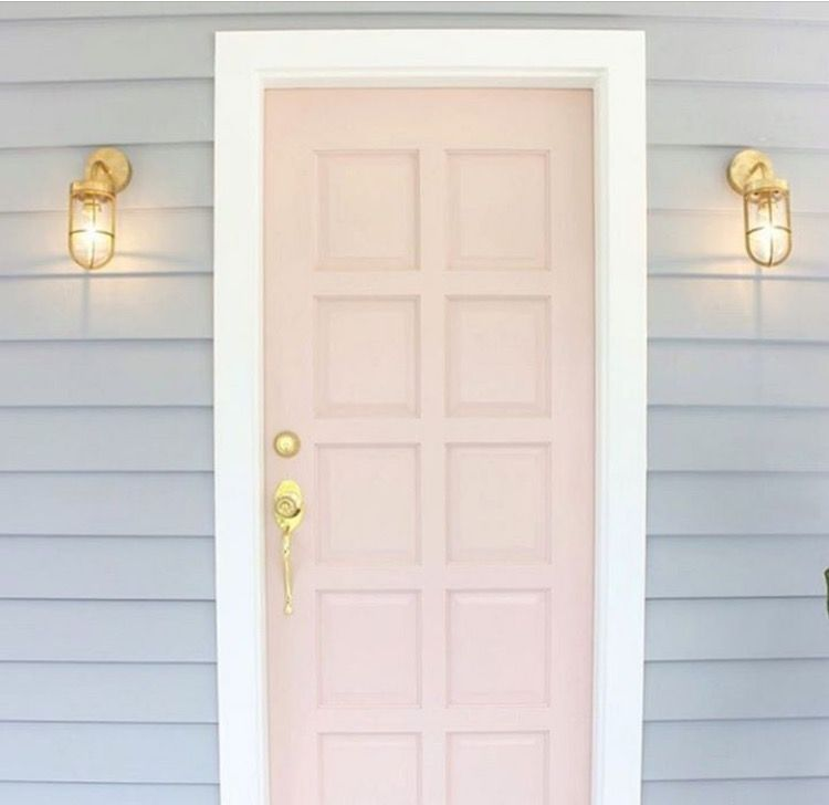 Pink Dust Coloured Front Door And Stormy Shower Exterior With Grey Weatherboard House Nz
