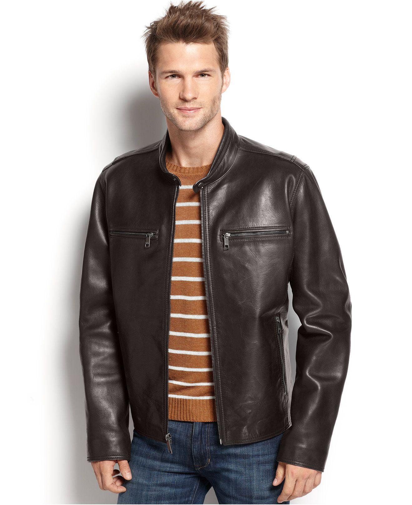 Marc New York Lamar Leather Moto Jacket Coats Jackets Men