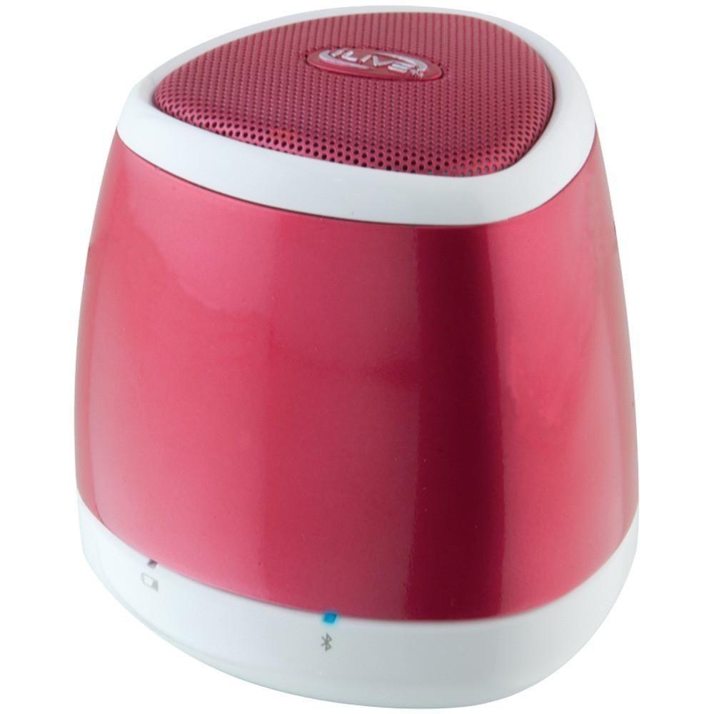 ILIVE BLUE iSB23R Portable Bluetooth(R) Speaker (Red)