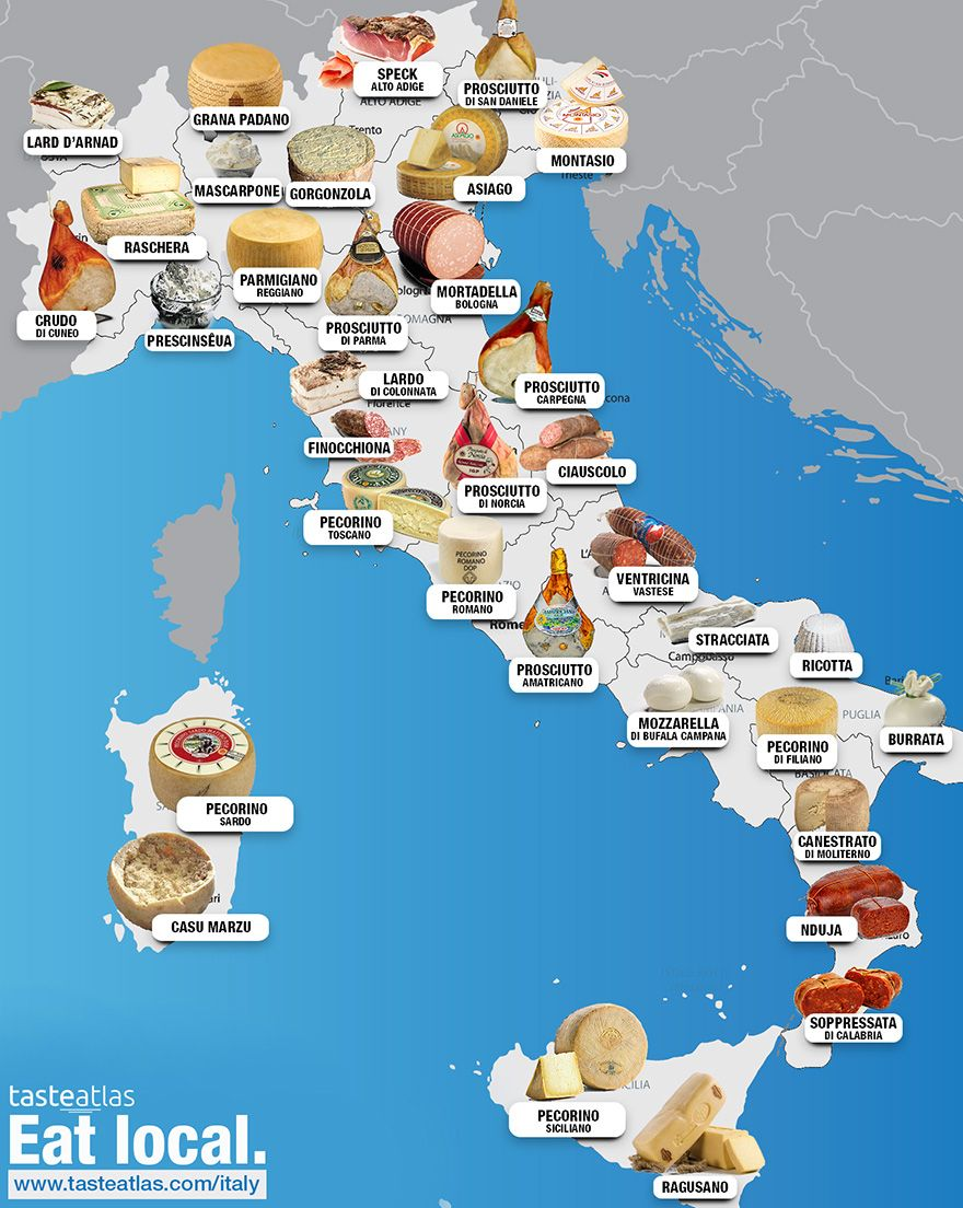 30 Maps Reveal The Tastiest Dishes Around The World Italy Food Italian Wine Food Map