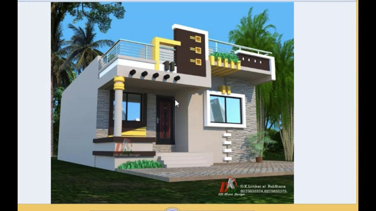 25x40 Best House Plan With 3d Elevations And 3 Color