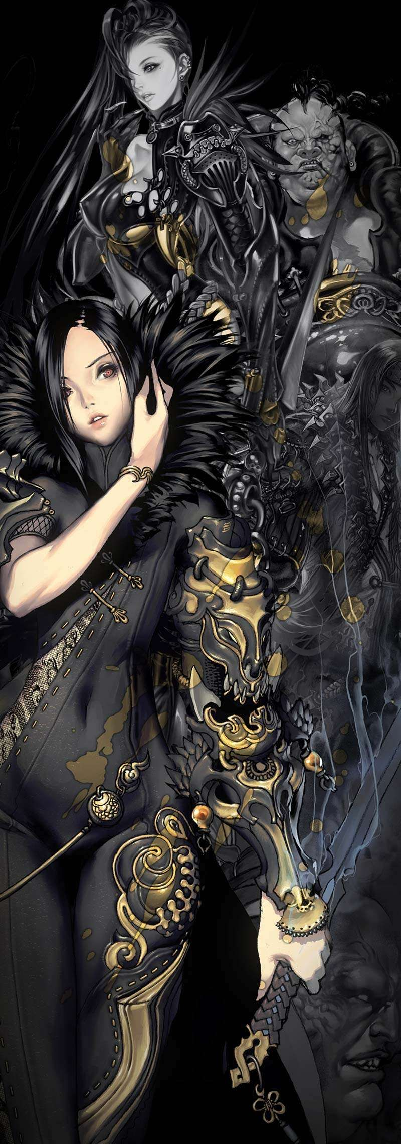 Blade & Soul Character Poster by HyungTae Kim Hyung Tae