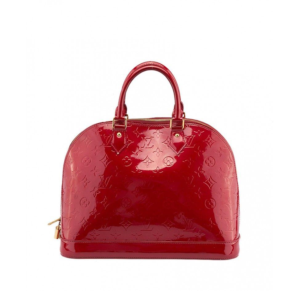 77f03b420d46 Pre-owned Louis Vuitton Alma PM Pomme D Amour Vernis Patern.