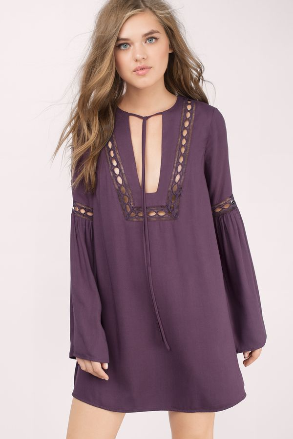 Get the effortless boho chic look with the Tyrell Boho Shift Dress ...