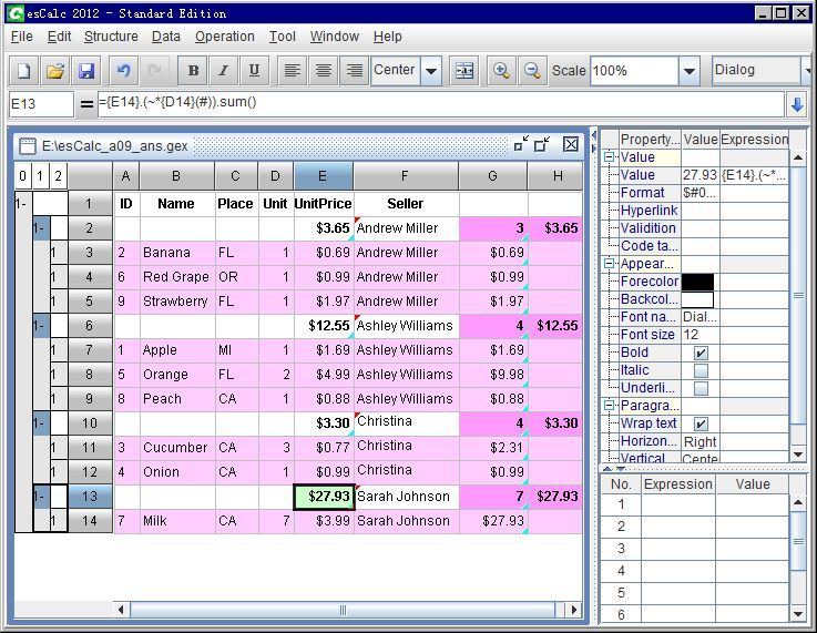 esCalc is a powerful and smarter spreadsheet software for business - Spreadsheet Software Programs
