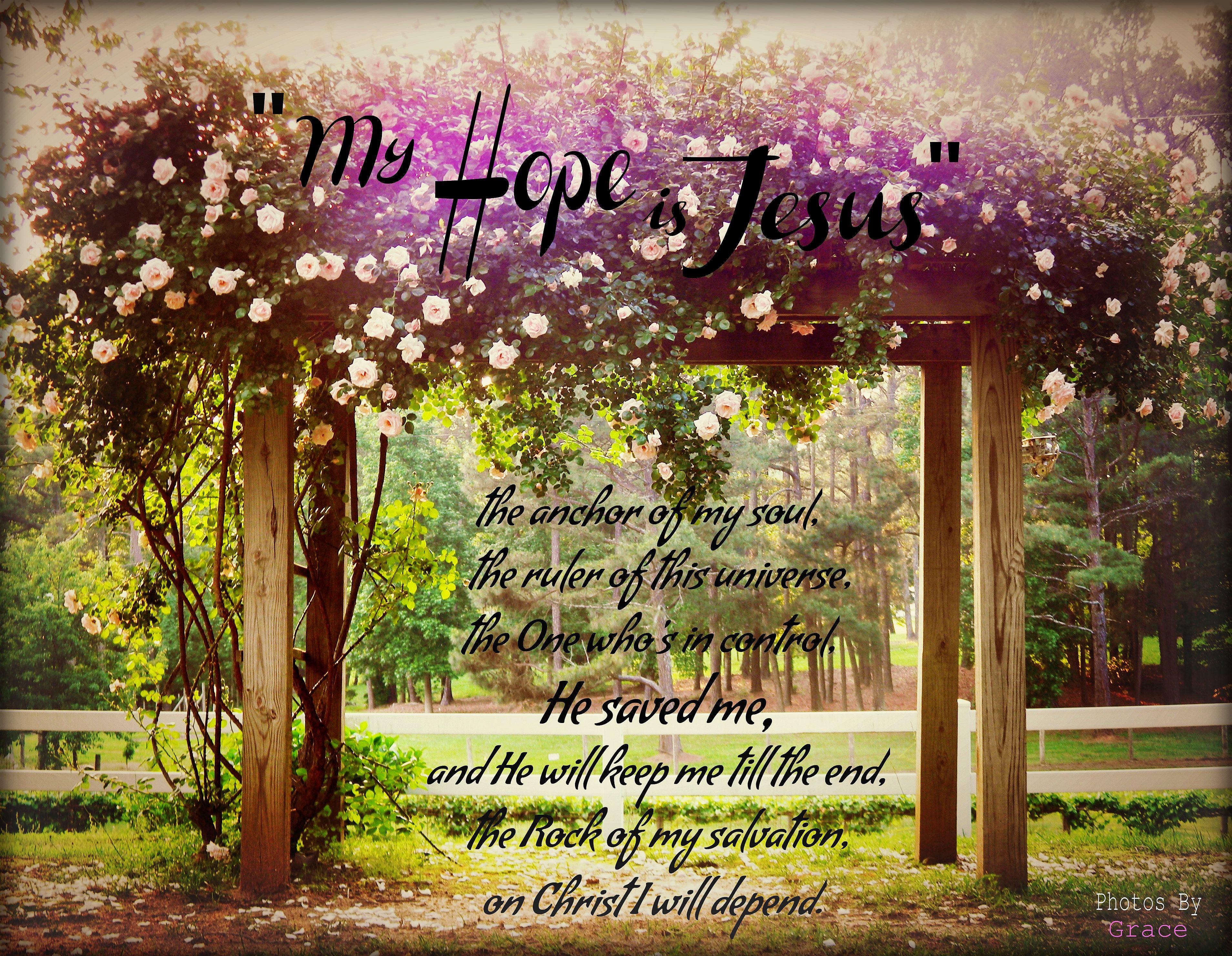 My Hope Is Jesus Photos By Grace Photosbygrace Gracie