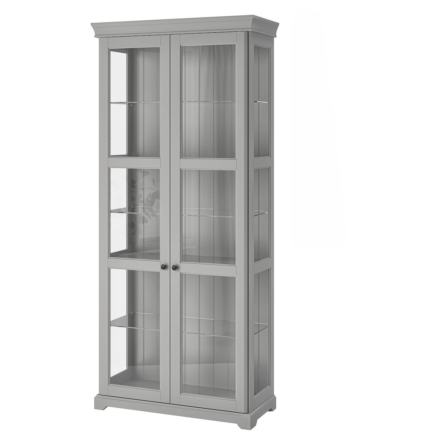 Liatorp Glass Door Cabinet Gray Ikea Glass Cabinet Doors Cabinet Decor Bookcase With Glass Doors