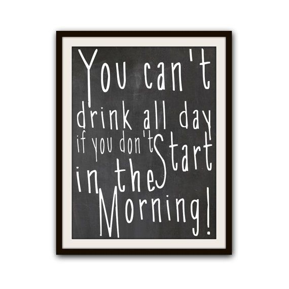 Funny Typography Chalkboard Art Home Decor Print Poster