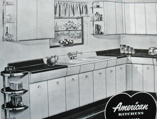 1952 American Kitchens Catalog Steel, American Kitchens Metal Cabinets