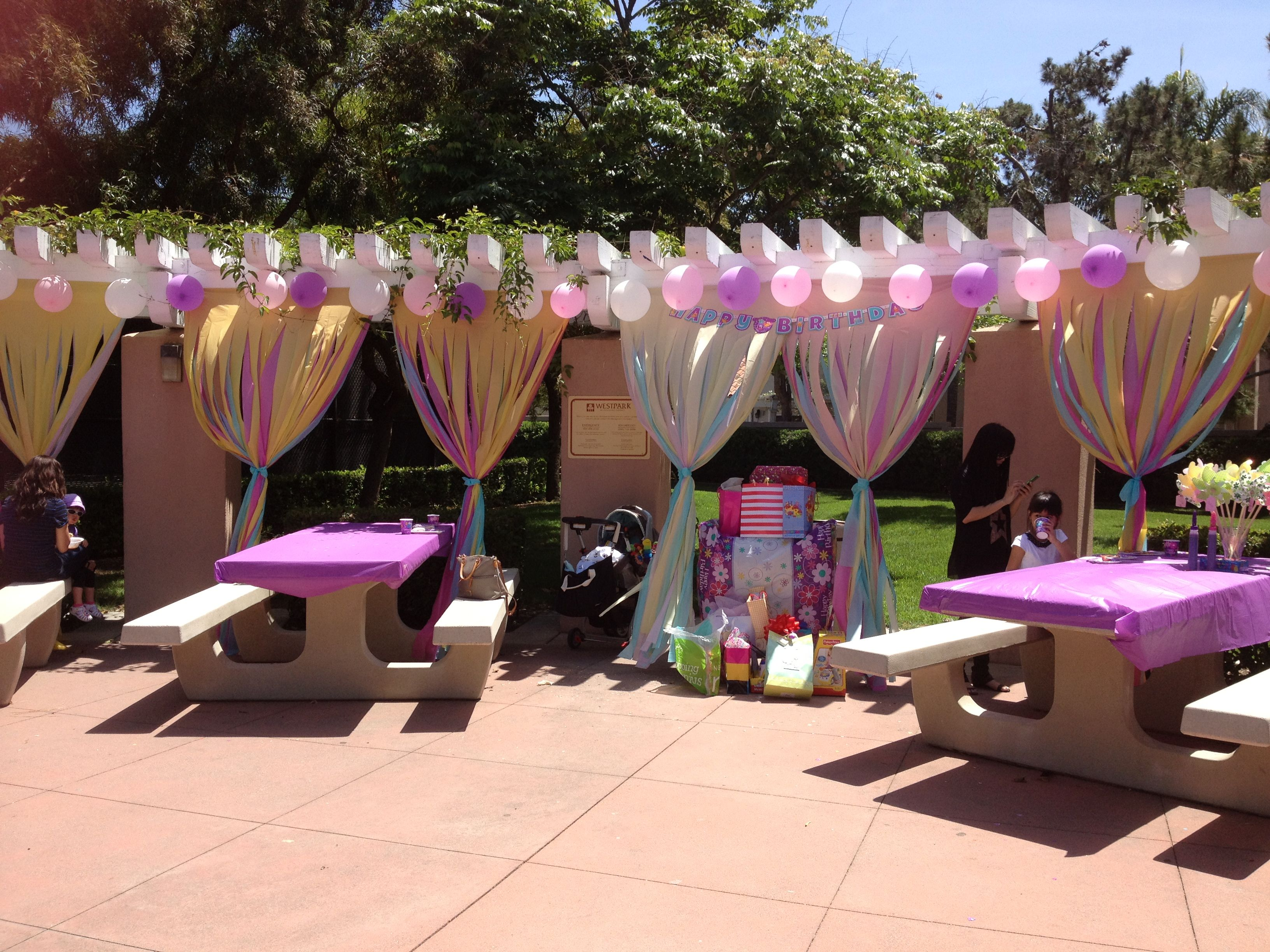 Birthday decor at the park birthday party pinterest for B day decoration photos