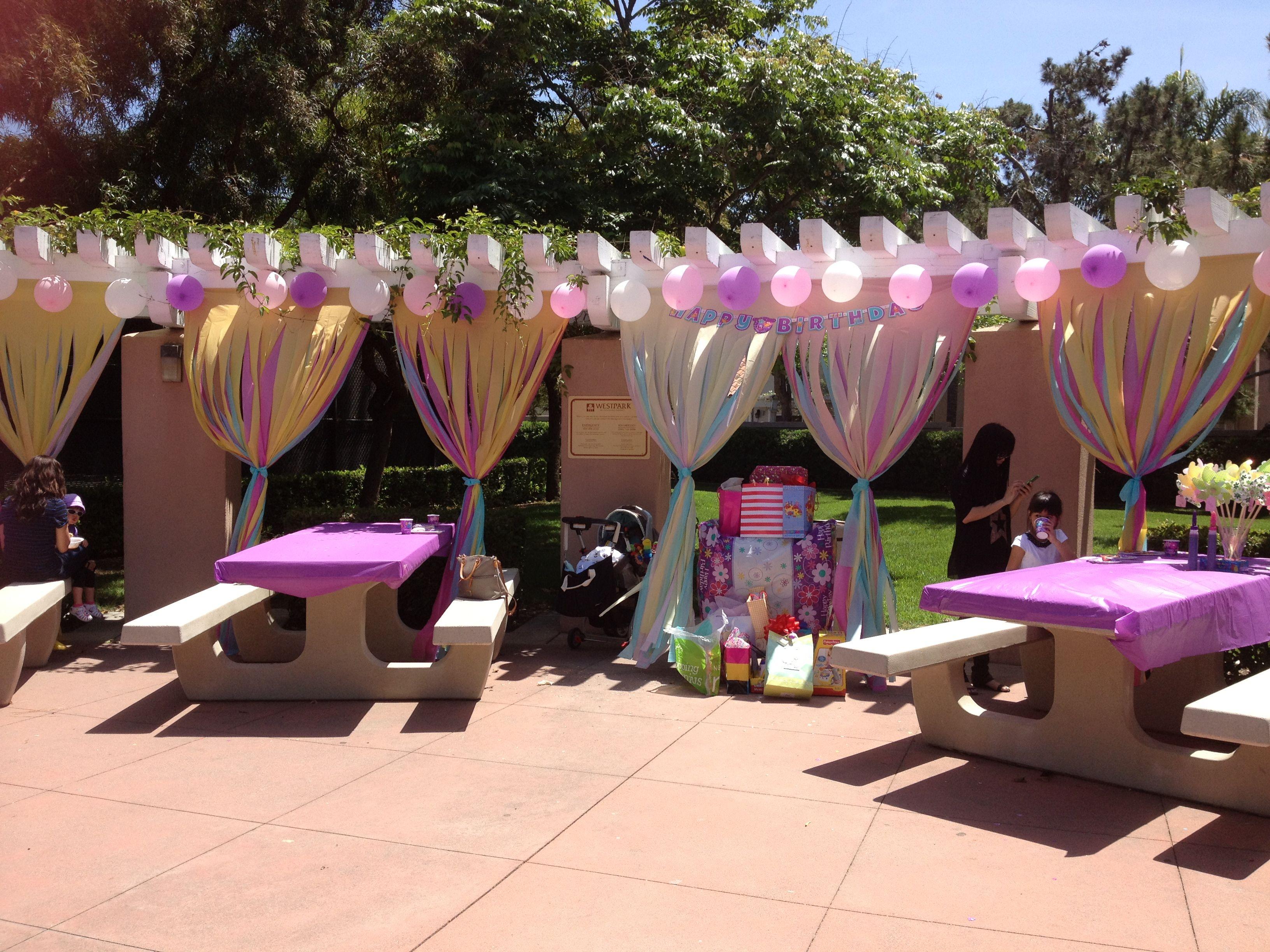 Birthday Decor At The Park Birthday Party At Park Park Party