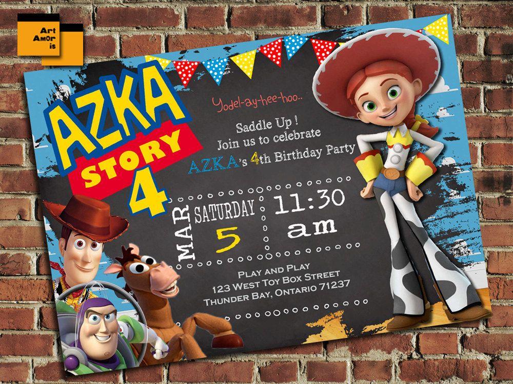 Toy Story Birthday Invitation, Toy Story Birthday Invite, Jessie ...