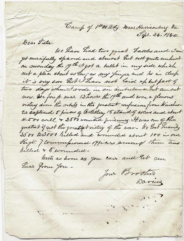 Soldiers Last Letter.Civil War The Last Sentence Of The 150 Year Old Letter Shows