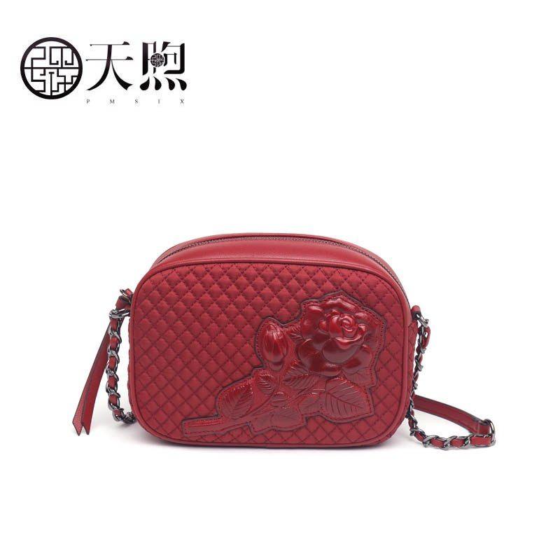 9fa20f0623751 PMSIX 2018 New women canvas bag fashion handbags women famous brands  Embossing bag women high quality shoulder crossbody bag