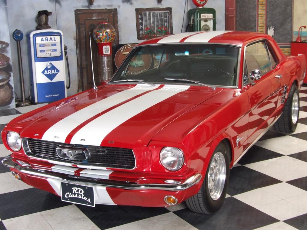 1966 Ford Mustang 200 PS V8 Motor! Classic car for sale-EN | V8 ...