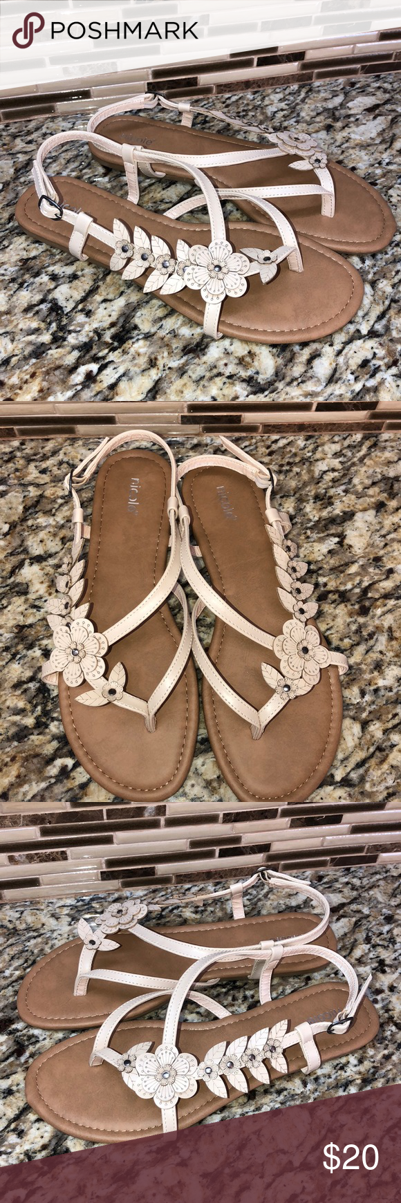 Nicole wide woman sandal brand new size