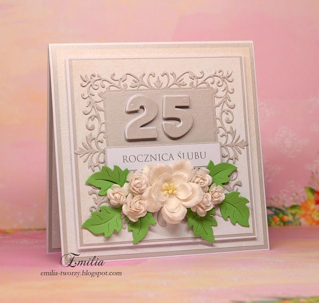 25 Rocznica Slubu Wedding Anniversary Cards Wedding Anniversary Anniversary