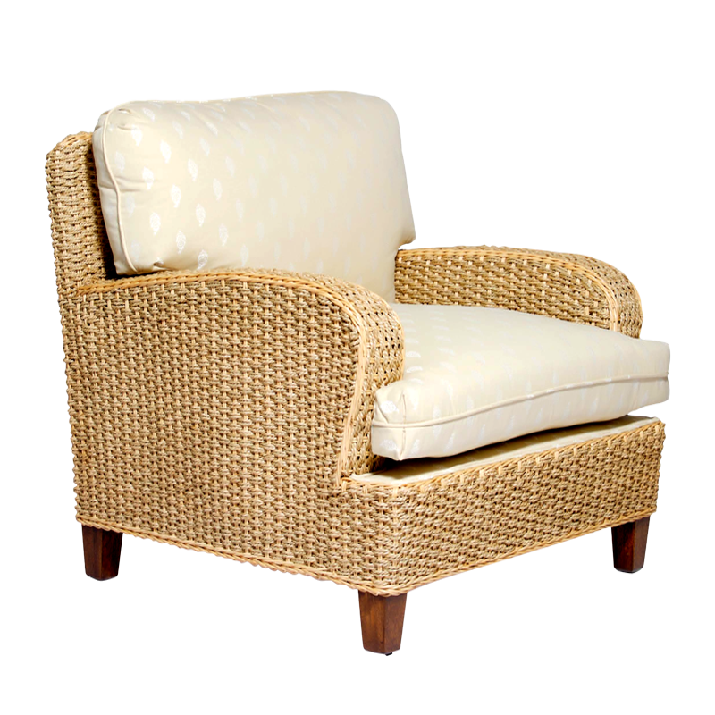 katmandu club chair - seagrass - chairs - products   mode