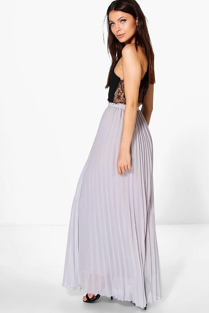 62e9b1ebcd Chiffon Pleated Maxi Skirt in 2019 | outfits | Pleated maxi, Skirts ...