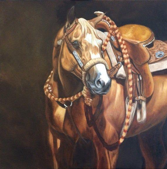 Nicole Smith Artist Horse Art Original Equine Giclee reproduction high quality print Western Dunalino 14x14