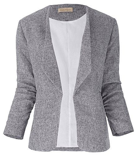 Women/'s Long Sleeve Blazer Ruffles Peplum Button Casual Jacket Slim Coat Outwear