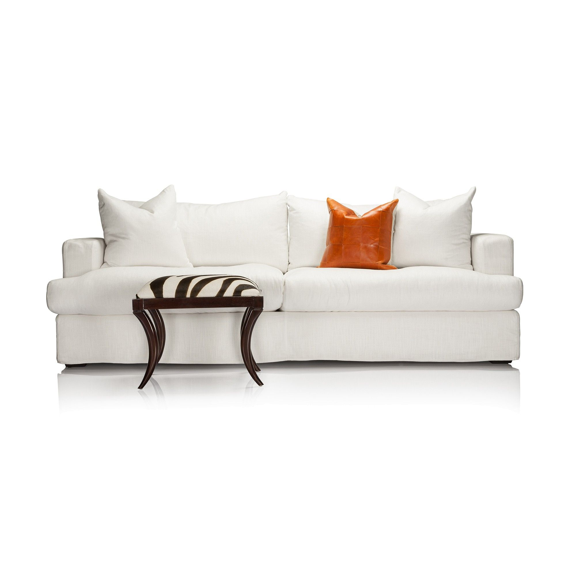 Comfortable Contemporary Sofa With Upscale Style And Deep Seated Design  Ideal For Mid To Large