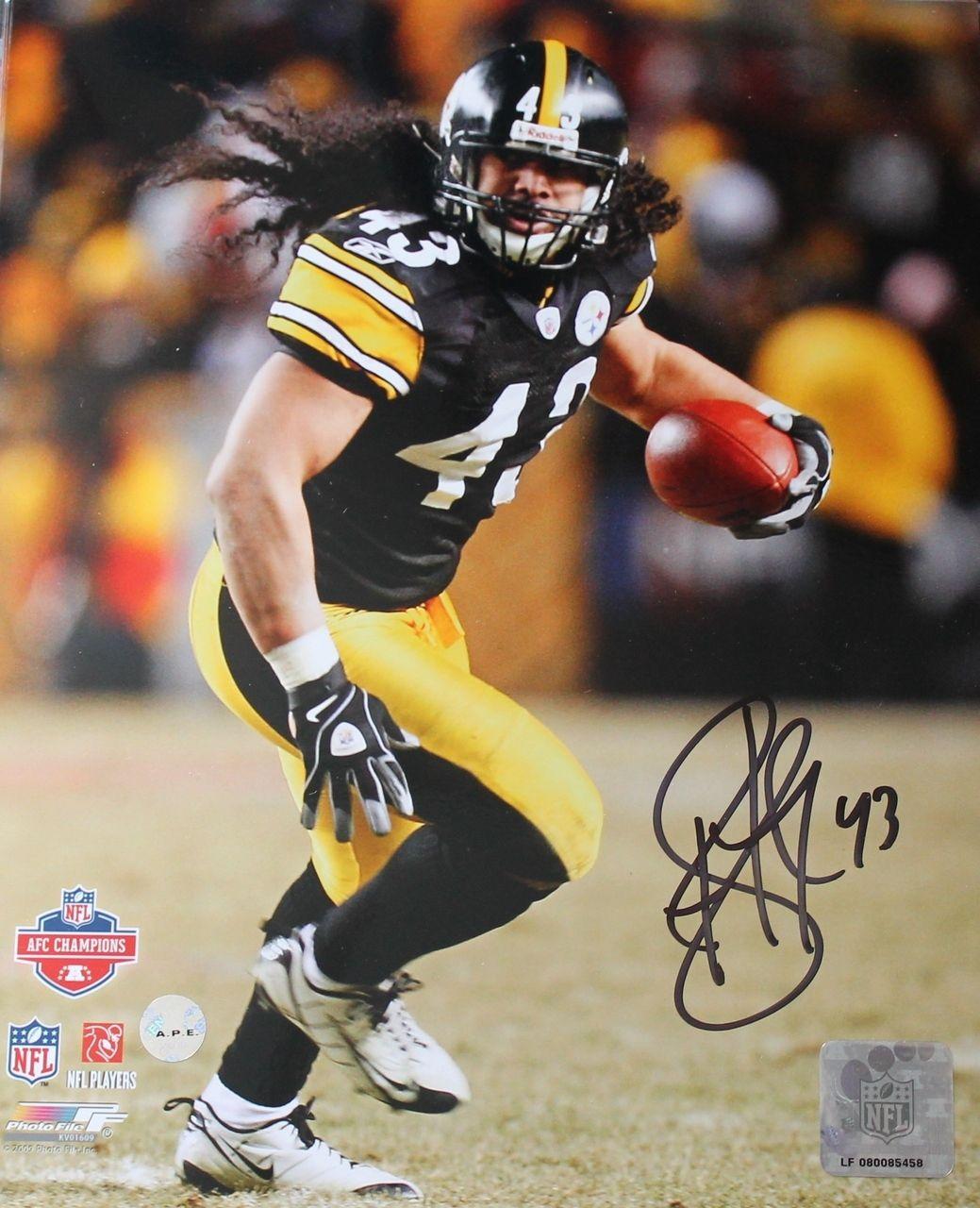 3d17d83d77e AAA Sports Memorabilia LLC - Troy Polamalu Pittsburgh Steelers Autographed  8x10…