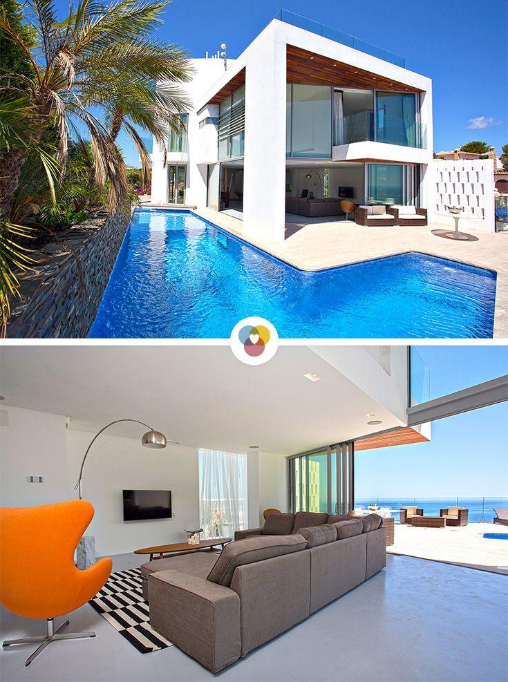 Tolle Villa An Der Costa Blanca 4 Schlafzimmer Ein Toller Pool Und Ein Wunderschoner Blick Auf Das Meer Auch Hu Ferienhaus Ferienwohnung Traum Ferienwohnung