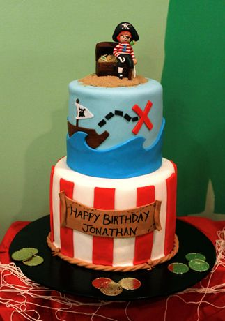 Little Pirate Cake Kids Cake Pirate Birthday Cake Pirate