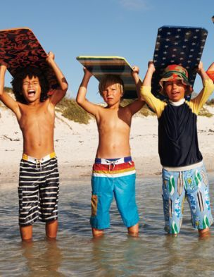 4e519e7a42f0b Mini Boden boys surf shorts. #kidsfashion #boystyle | BOYS SWIMWEAR ...