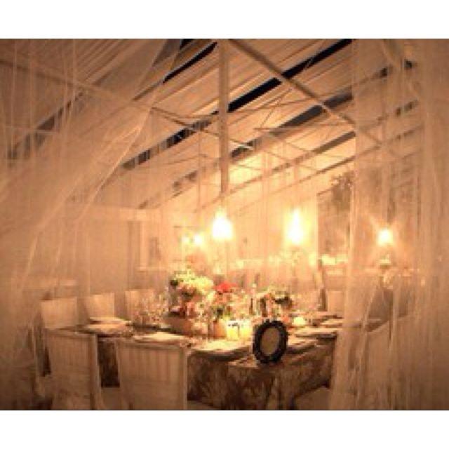 Wedding tables.