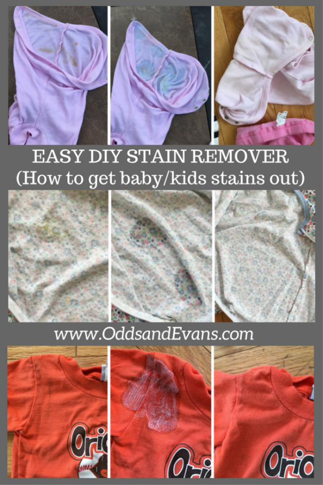 Easy Homemade Stain Remover How To Get Stains Out Of