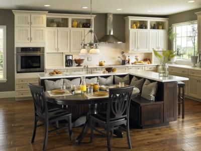 How To Choose The Best Kitchen Cabinets Kitchen Island Built In Seating Kitchen Island Designs With Seating Kitchen Island Design