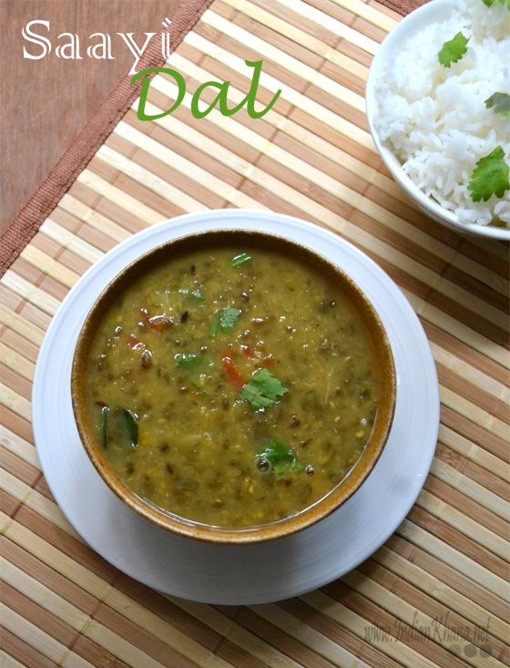 Saayi Dal | Sindhi Chilka Moong Dal  Split Green Gram (moong dal) in Sindhi style ..