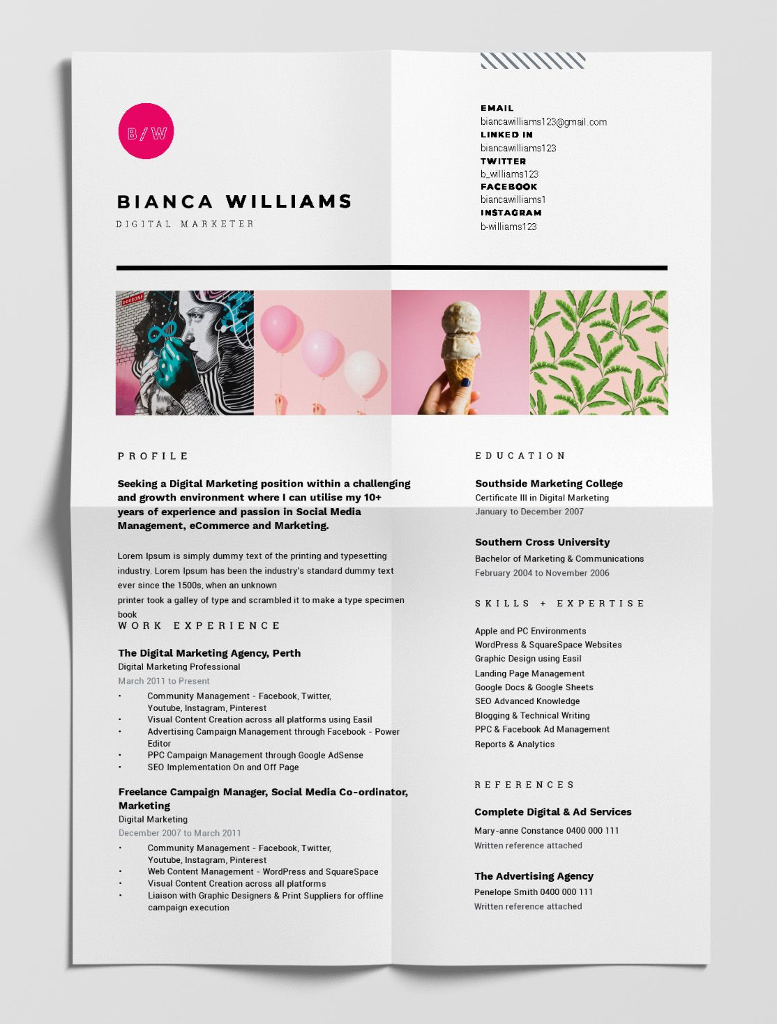12 Best Free Resume Templates Tips On How To Stand Out Easil Best Free Resume Templates Resume Template Free Resume Design Template