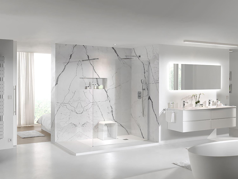 X2o Balmani Modular Shower System Inloopdouche Helder Glas Douche De Plain Pied Verre Transparent Shower Pe Bathroom Interior Bedroom Deco Shower Systems