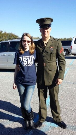 Me and my Bro, just graduated from Marine Corps boot camp today.
