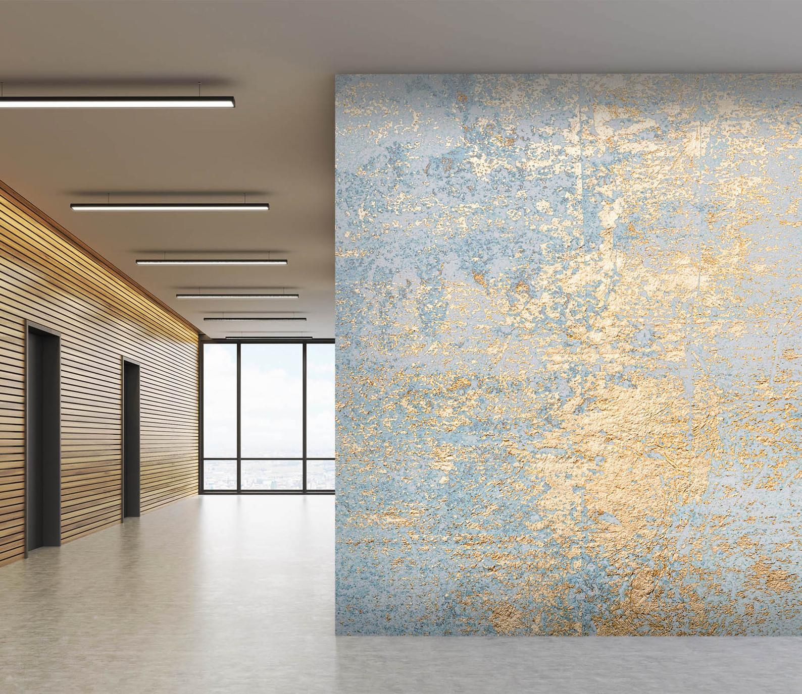 Golden Wall 2974 Wallpaper Mural Self Adhesive Peel And Stick Wall Sticker Wall Decoration Design Removable In 2021 Tiles Texture Painting Textured Walls 3d Wall Murals