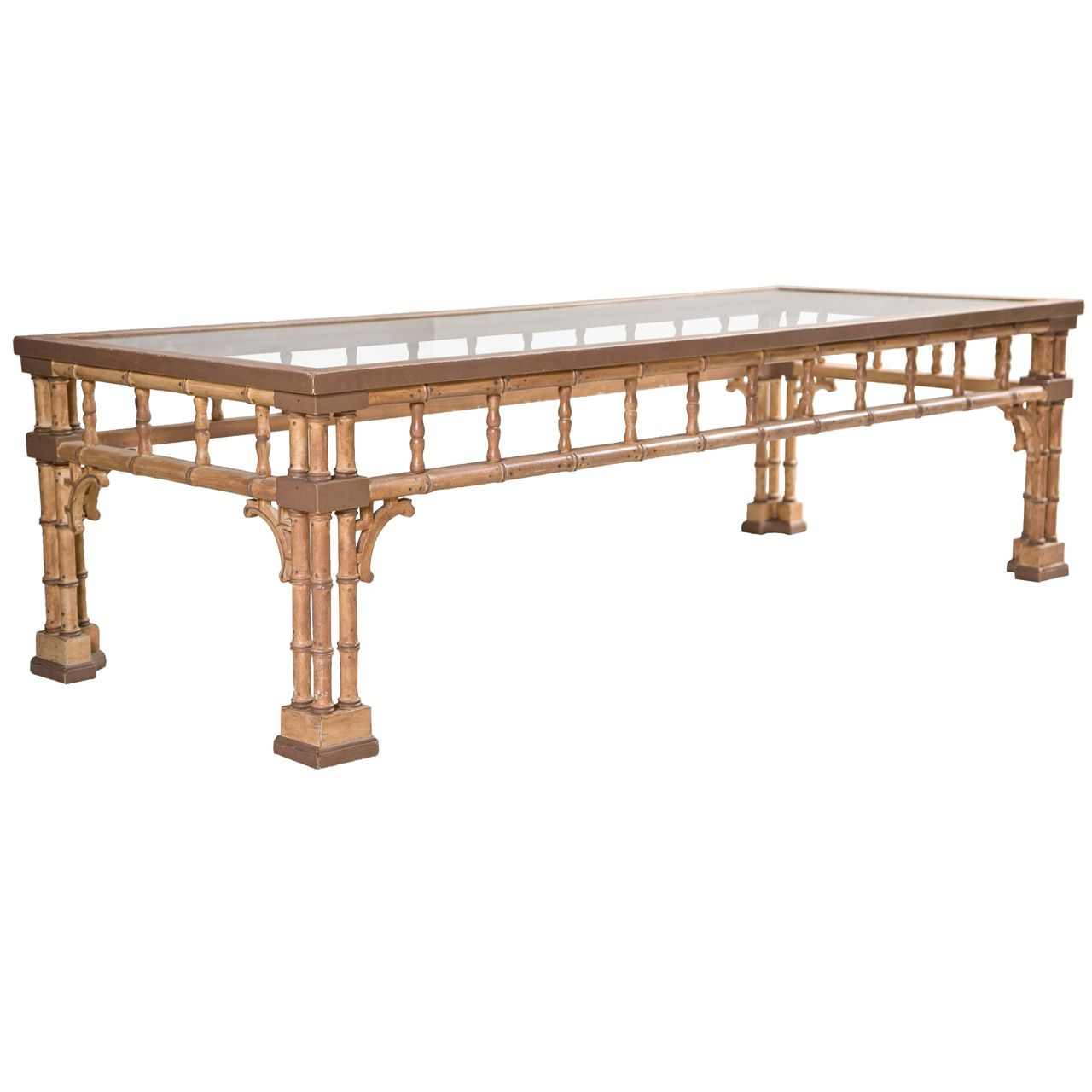 Faux Bamboo Coffee Table With Glass Top Bamboo Coffee Table Glass Top Coffee Table Large Square Coffee Table [ 1280 x 1280 Pixel ]