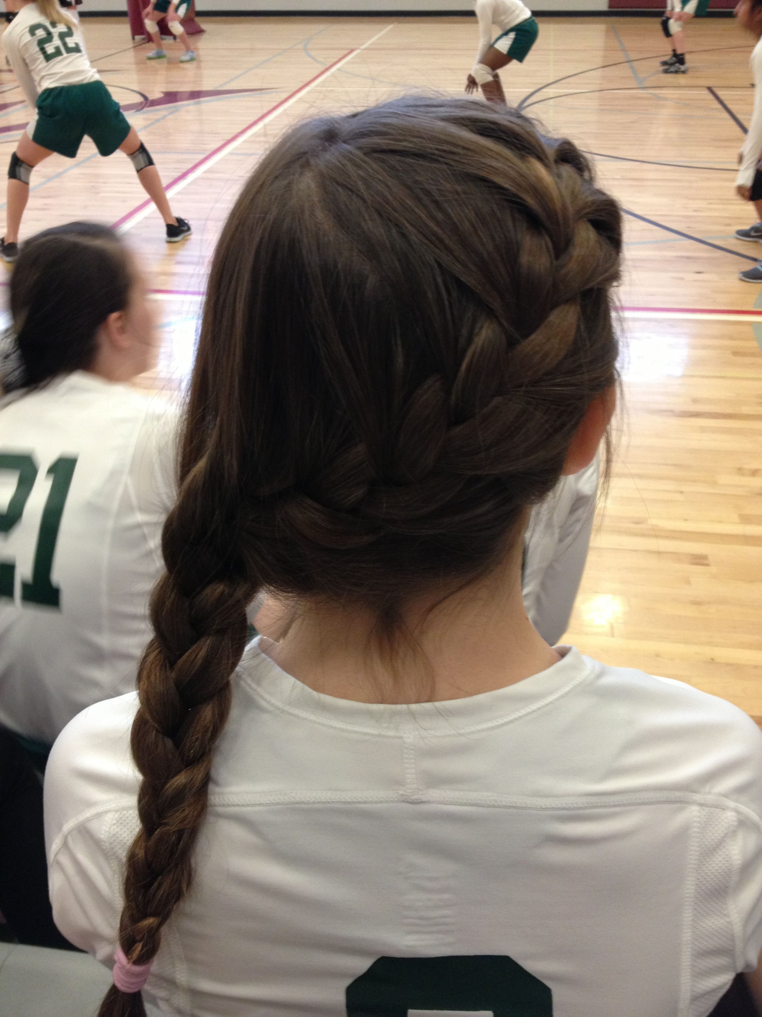 Pin By Sara Todd On Perfect Hair Volleyball Hairstyles Sports Hairstyles Sport Hair