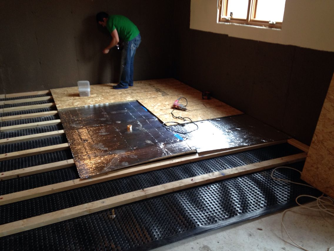 basement subfloor high density dimpled polyethylene. Black Bedroom Furniture Sets. Home Design Ideas