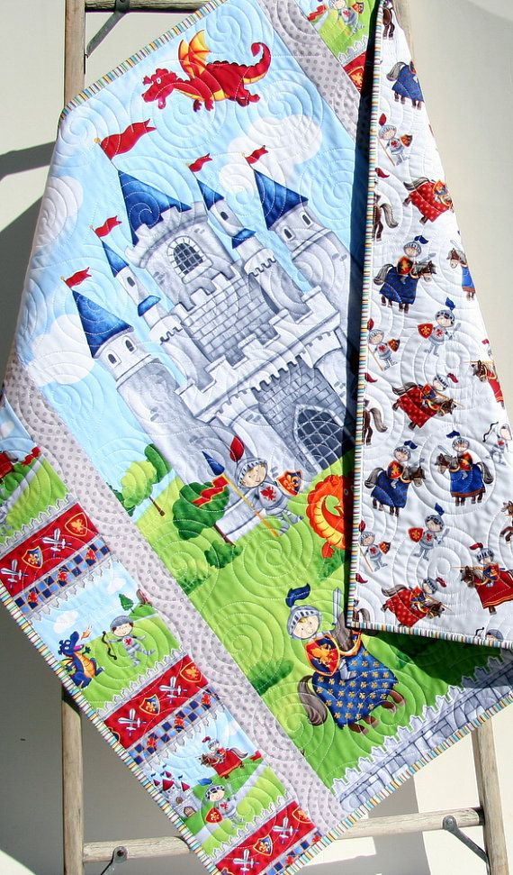 Little Knight Quilt Kit Panel Stripe Quick By