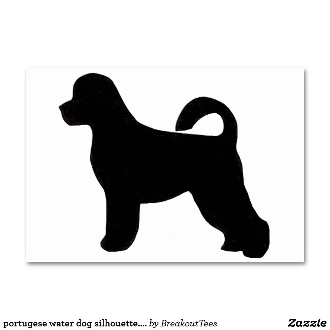 Portugese Water Dog Silhouette Png Table Number Zazzle Com Portugese Water Dogs Dog Gifts Portuguese Water Dog