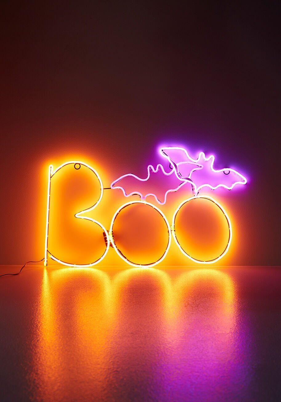 BooTacular Neon Sign in 2020 Halloween wallpaper iphone